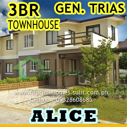 House And Lot For Sale Alice Townhouse 3BR At Brgy