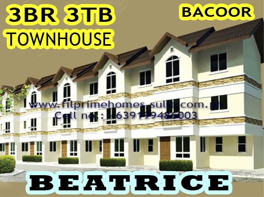 House And Lot For Sale Bellefort Estates Bacoor Cavite Philippines Beatrice